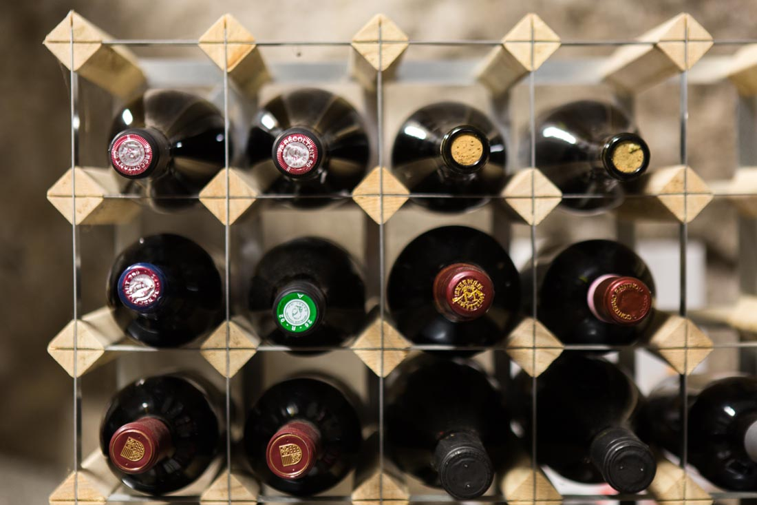 La Maison Bambou wine cellar
